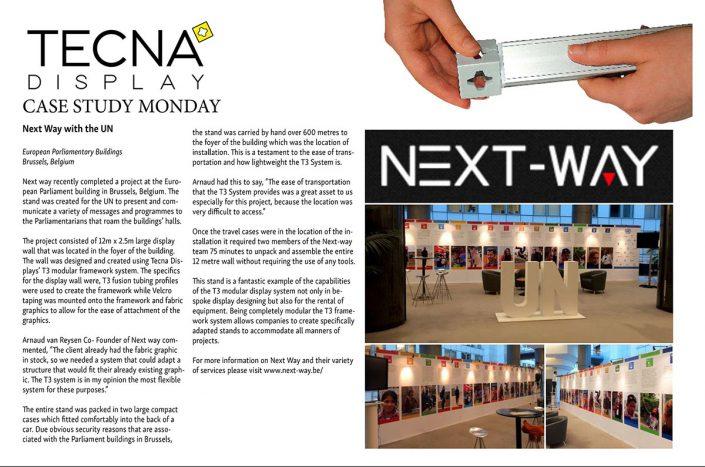 wall of fame - article sur Next-way et le projet pour l'Onu au parlement européen pour Phrenos. Les avantages du T3