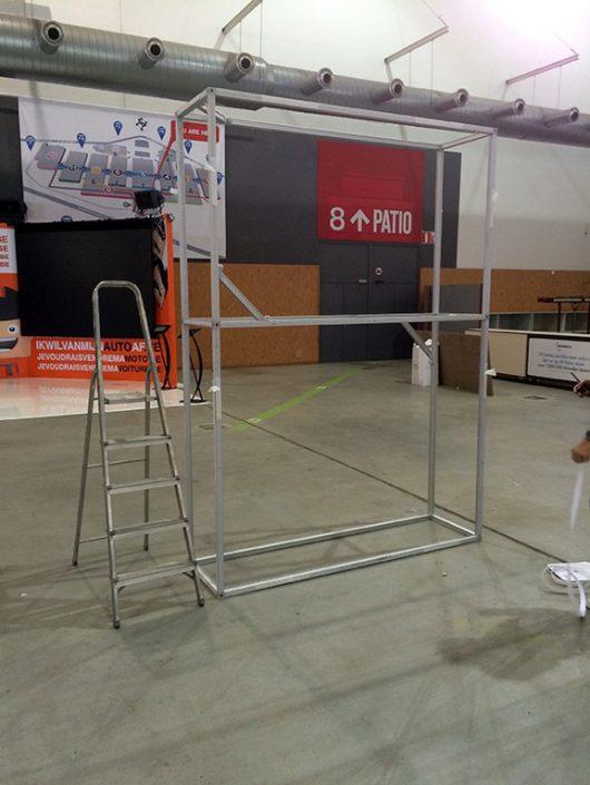 Photo de notre structure T3 avant de fixer les panneaux.