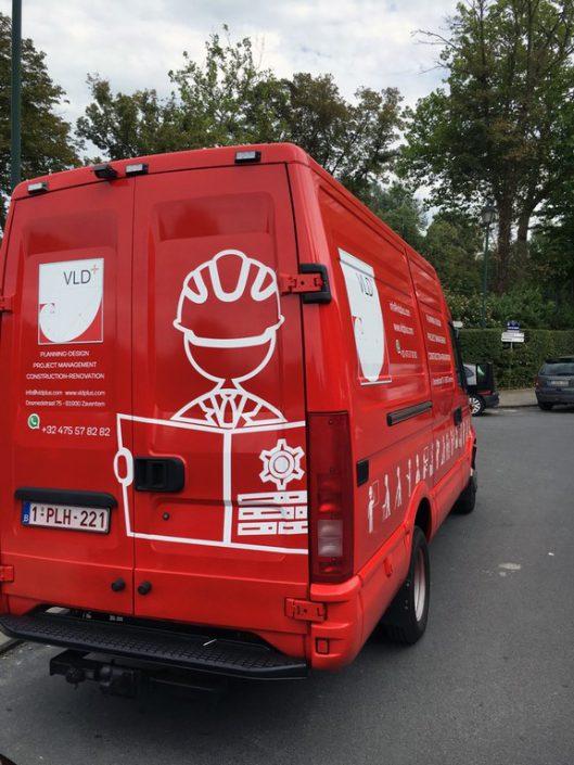 décoration des camionnettes VLD