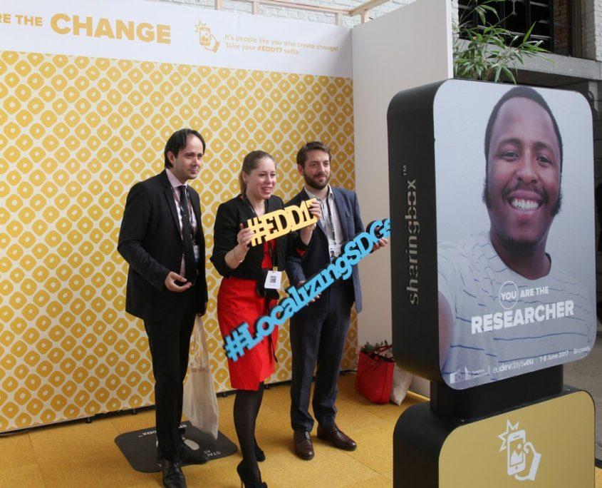 fotobooth #EDD17 selfie zone with sharingbox