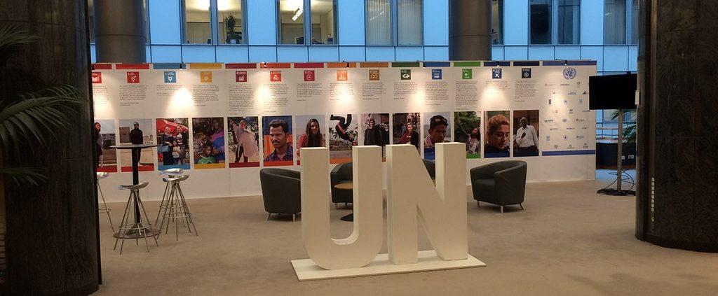 Expo wall for UN in European-T3 Fabrics Parliament