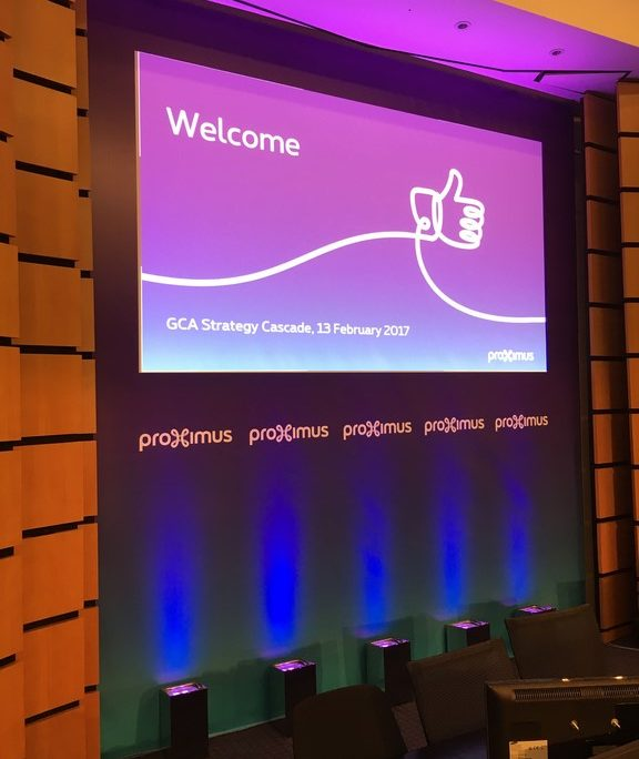 PROXIMUS screen projection