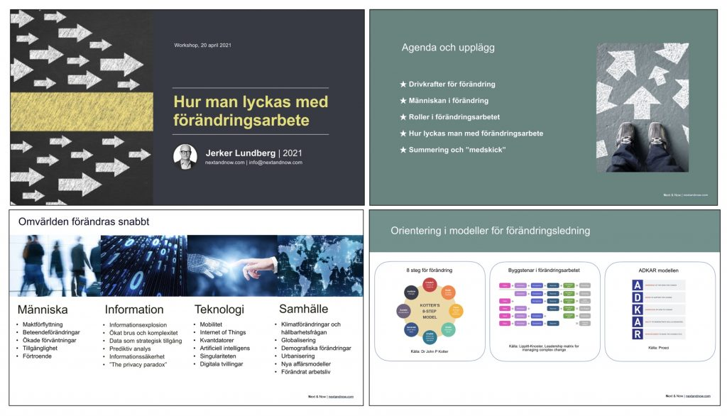 Digitala kurser i förändringsarbete, förändringsledning, ledarskap och hållbar tillväxt