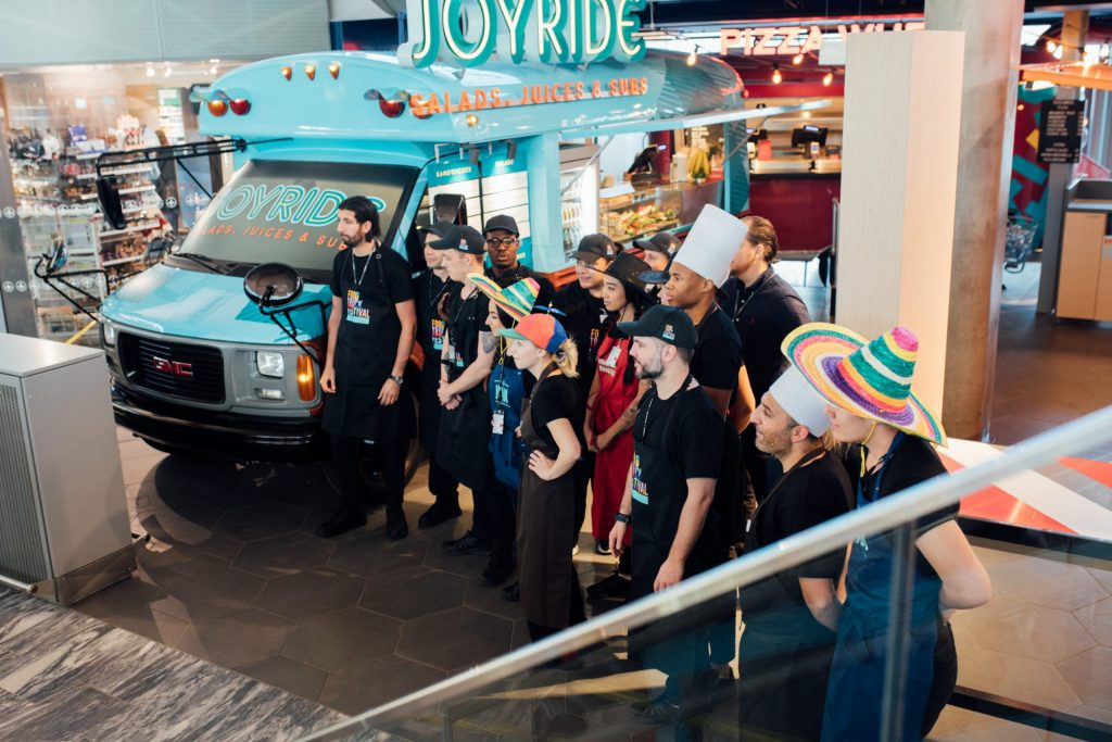 food truck crew training on Oslo Airport
