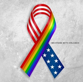 We stand with Orlando ribbon