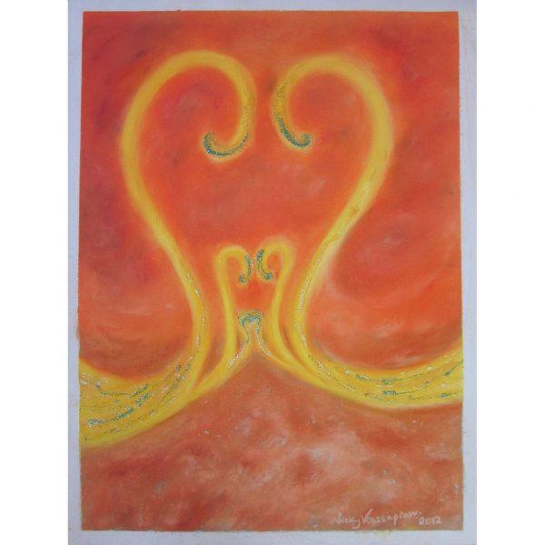 Saraswati-Swans-of-Love Painting