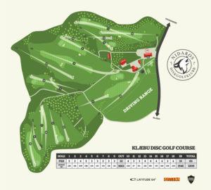 Banekart Klæbu Disc Golf Course