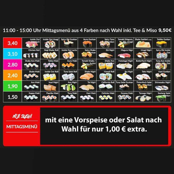 Mittagsmenü4Farben-nach-Wahl-Vorspeise-Salat