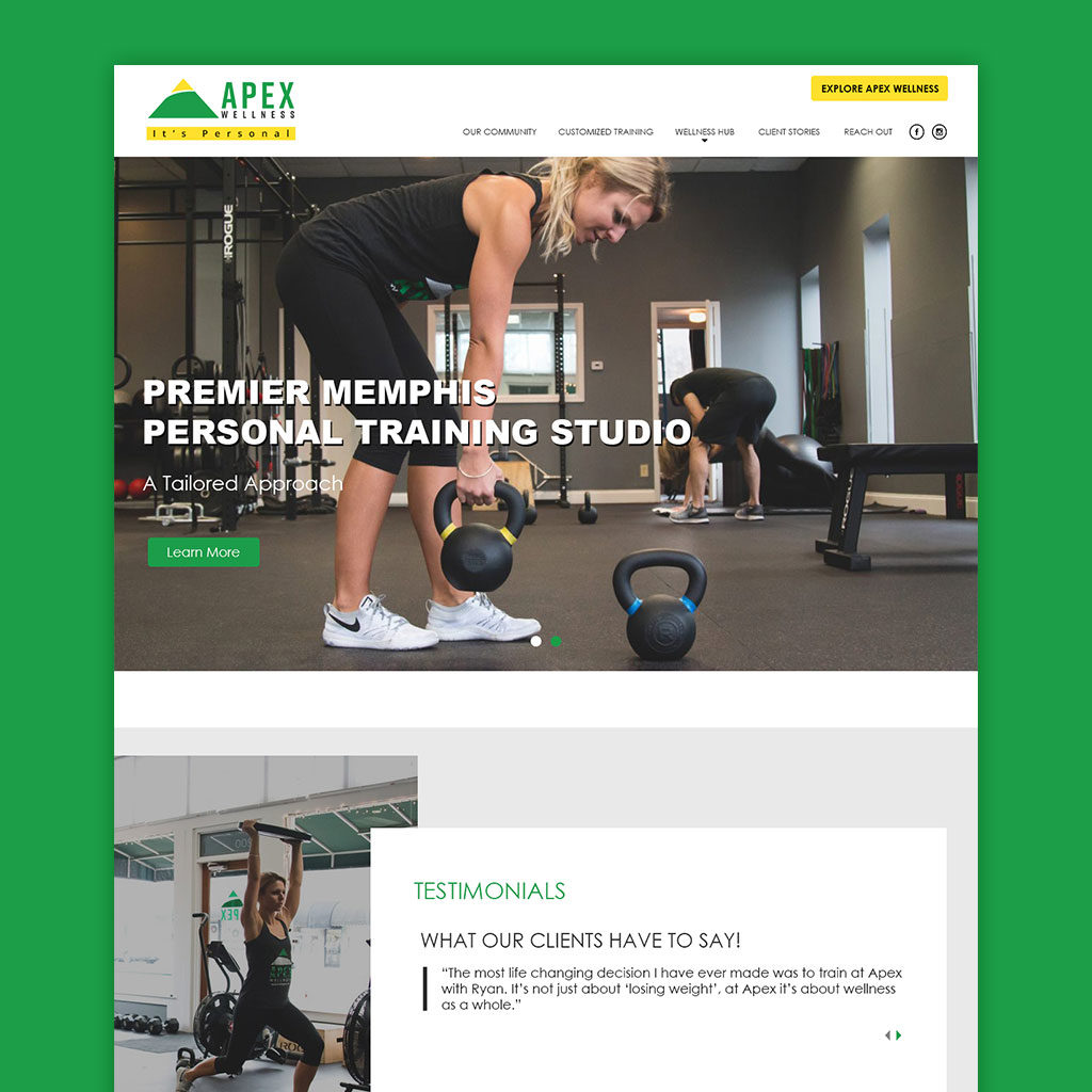 gym business websites