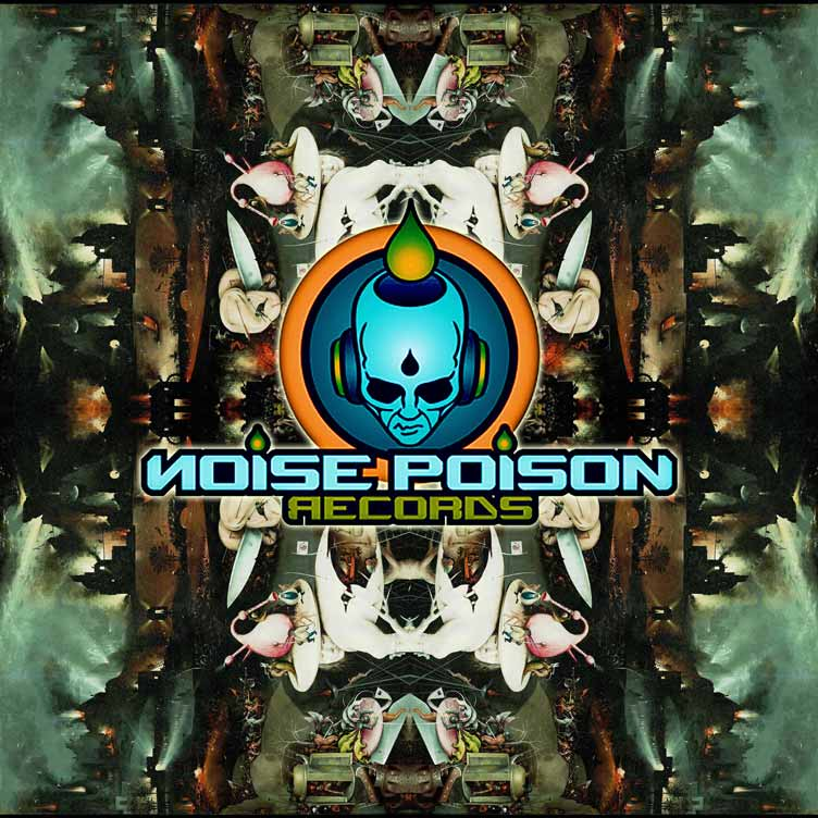 noise poison graphic by parandroid hitech trance psychedelic art