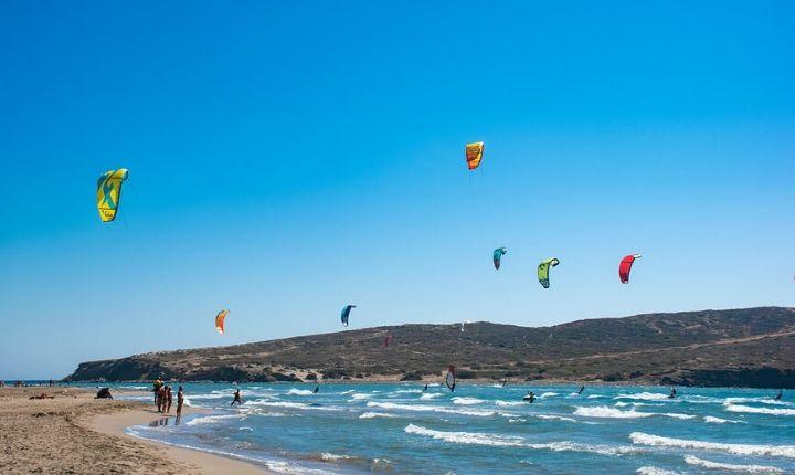 kitesurfa på rhodos