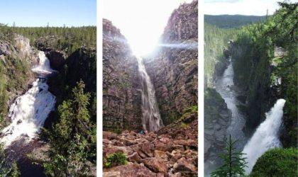 Sveriges högsta vattenfall – De 5 största & häftigaste!