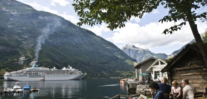The visit of cruise boats to destinations like Geiranger has stopped completely. (Photo: Bjørn Moholdt)