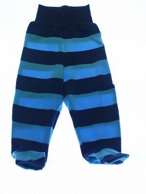 Økologiske blåstribet bukser med fødder.