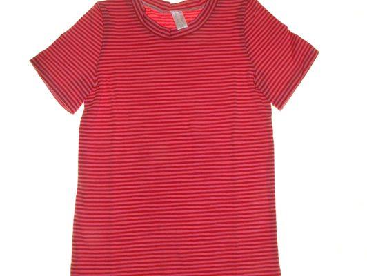 Magenta stribet t-shirt