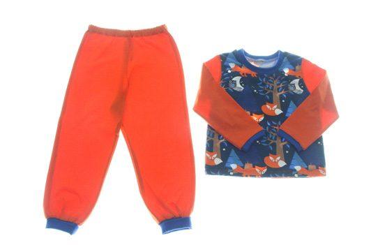 Økologisk pyjamas ræve