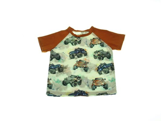 Økologisk-T-shirt-Monster-Truck-92-