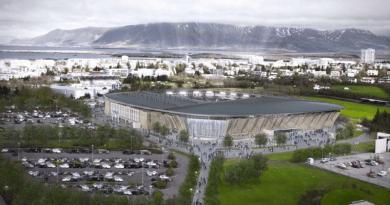 Icelands new national football arena Laugardalsvöllur