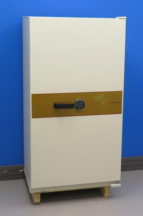 Begagnat-dokumentskap-Rosengren-120P-med-elkodlas-med-stangd-dorr