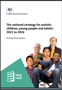 Front Cover of the National Autism Strategy 2021-2026