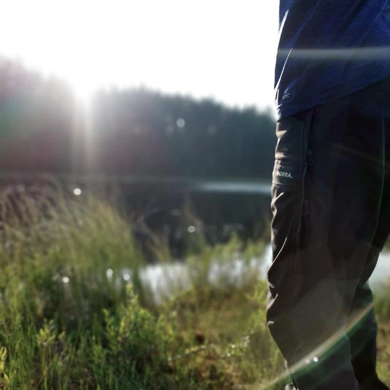 pants nest to lake