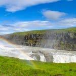 Det berømte vandfald Gullfoss. North Travel. Kombitur med ridning.