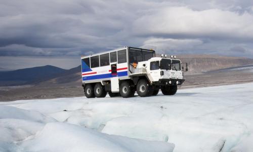 Ind i gletsjeren udflugt