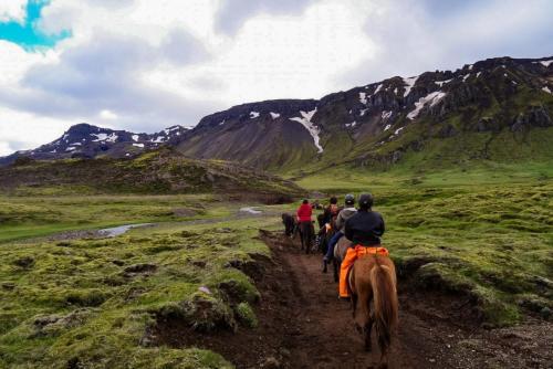 Ridetur ved vulkanen Hengill