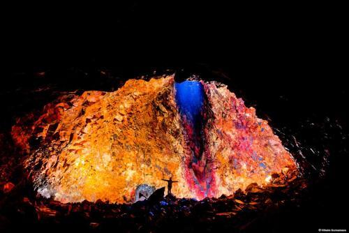Ind i et vulkankrater udflugt