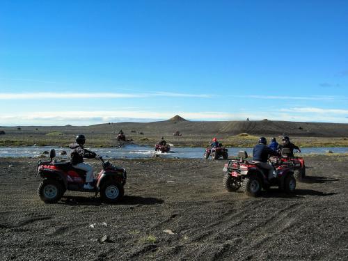 ATV tur på Sólheimasandur.