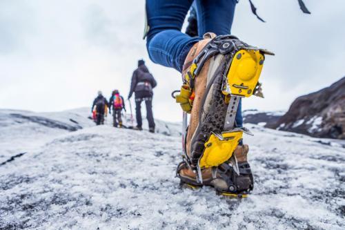 Gletsjervandring kræver pigsko
