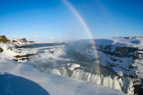 Gullfoss er smukt om vinteren