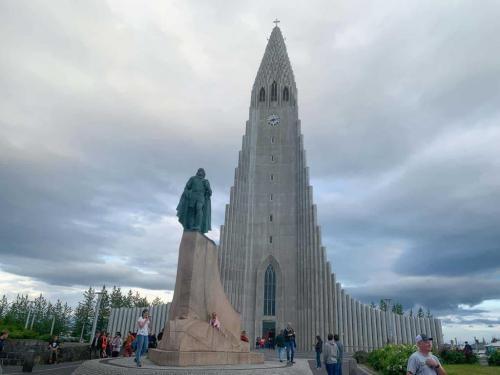 Hallgrímskirkja i Reykjavik.