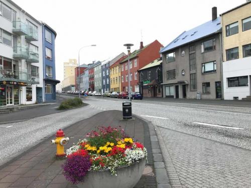 Laugavegur i Reykjavik ved Hlemmur.