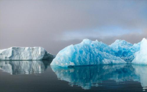Den blå is i Eriksfjorden