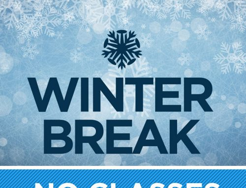 Diving Center Closed for Winter Break
