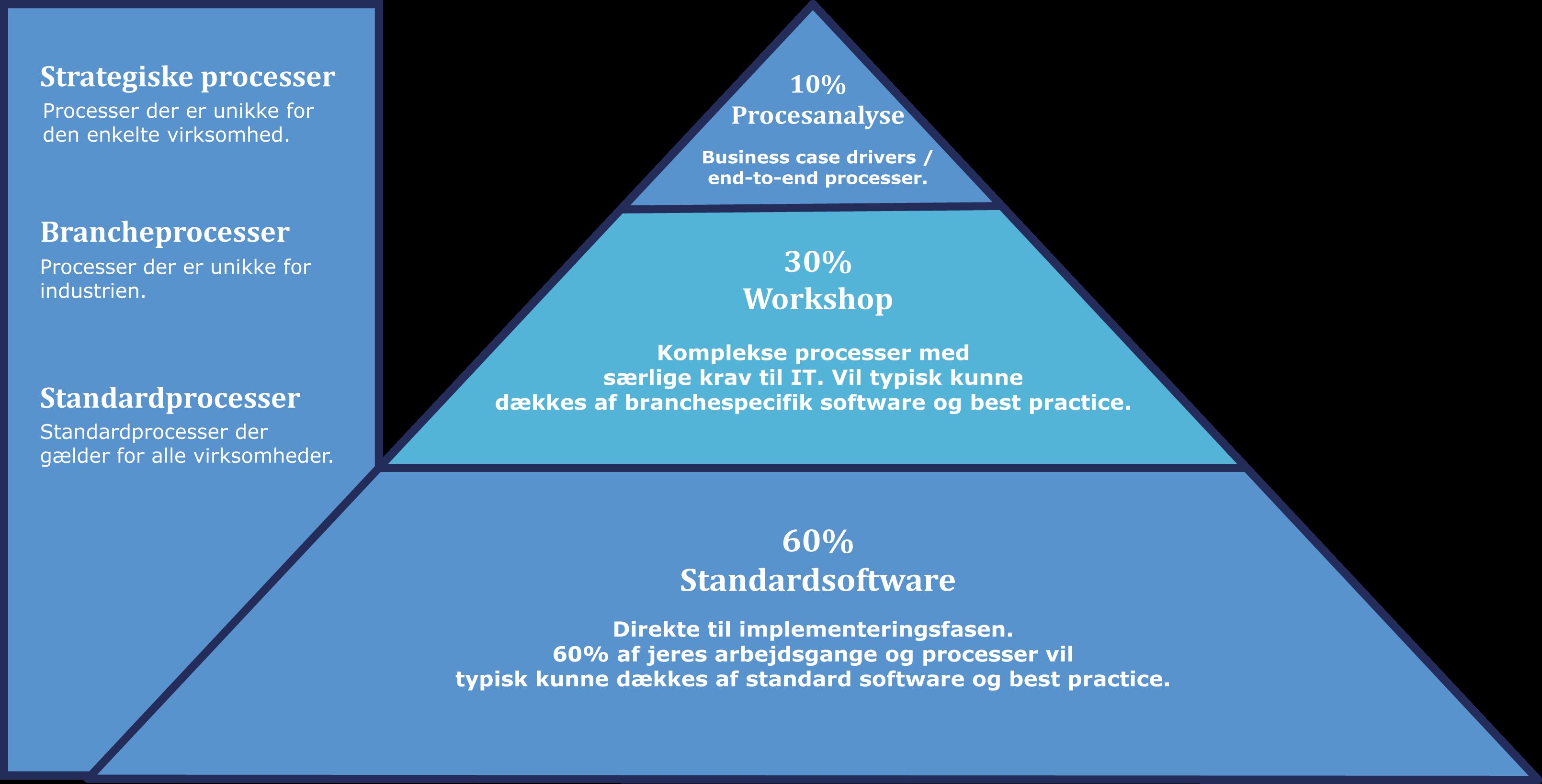 brancheløsning pyramide infografik