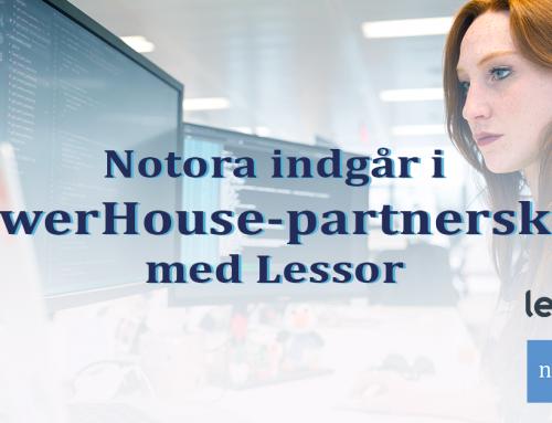 Lessor og Notora indgår aftale om PowerHouse-partnerskab