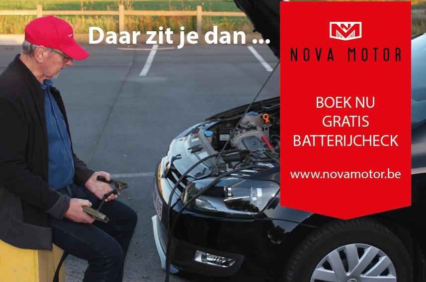 Nova Motor Geluwe gratis batterijcheck