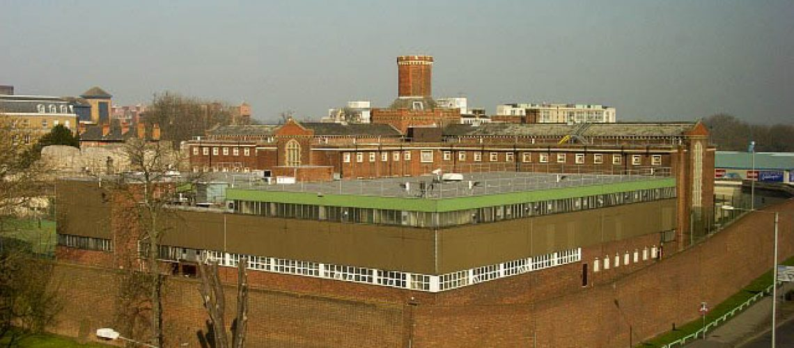 Reading Prison, the site of the newest Banksy artwork.