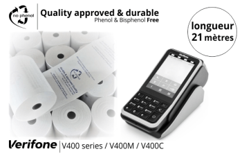 NPpaper label de Qualité   Terminal de Paiement CCV Verifone V400