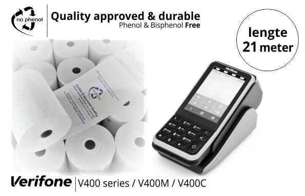 NPpaper Kwaliteitslabel   ccv verifone v400 terminal