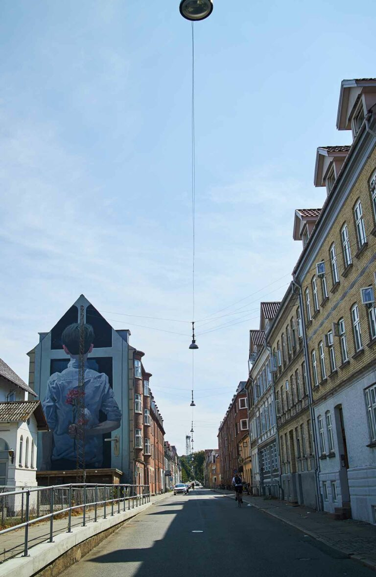 Art on a wall in the west part of Aalborg city