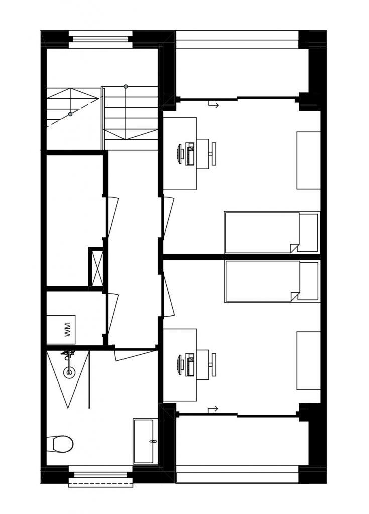 Architect Den Haag kavelwoning ontwerp 03