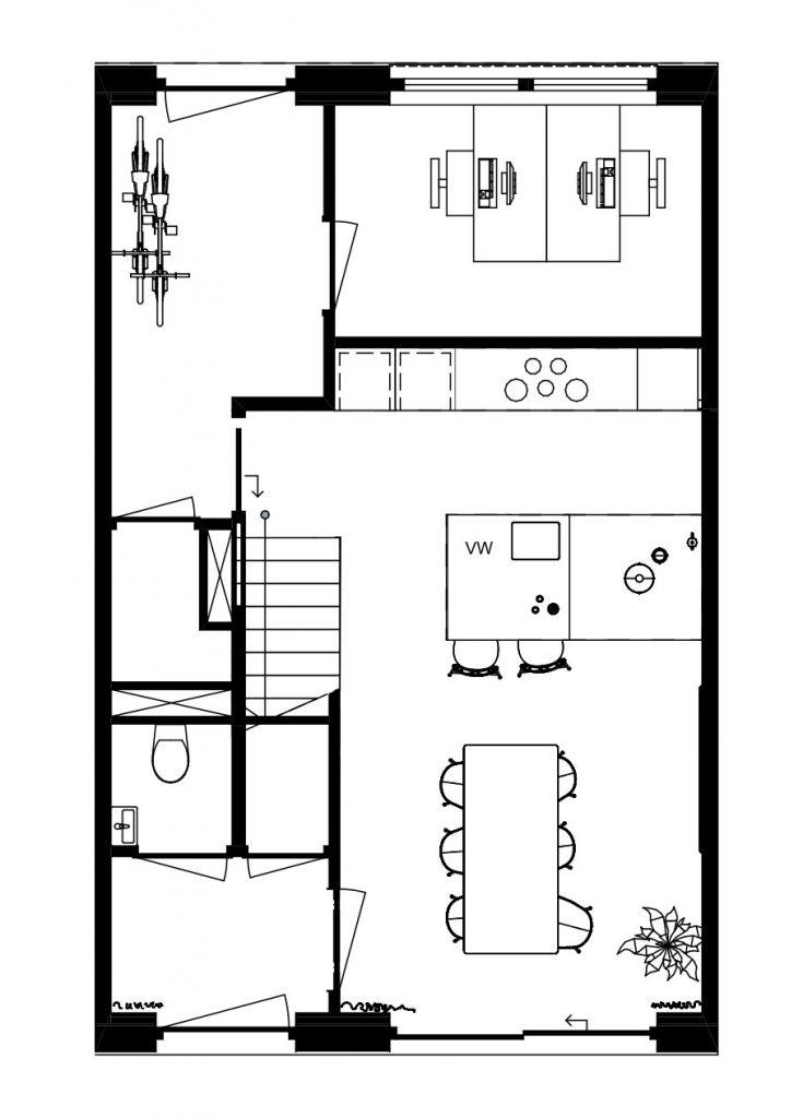 Architectuur den haag-plattegrond-kavelwoning-ontwerp-BG