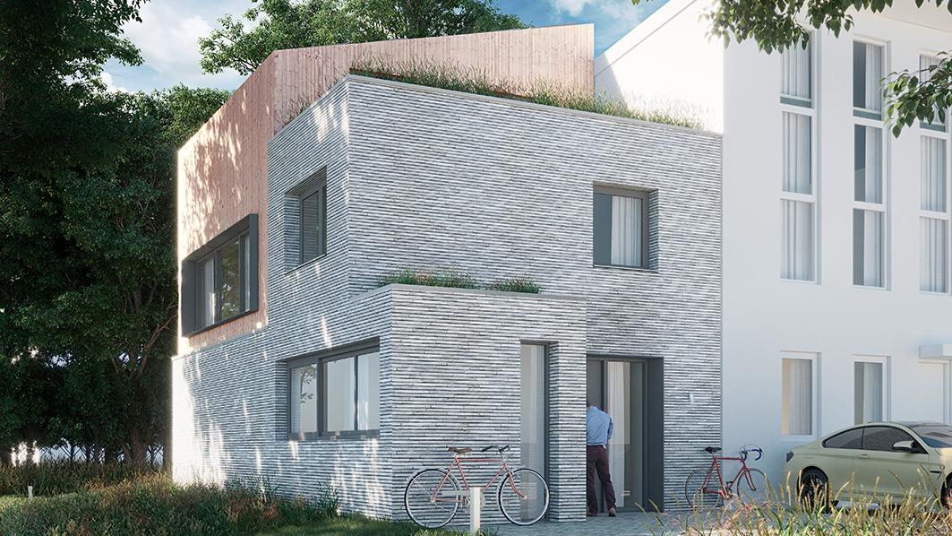 Architect Den Haag-kavelwoning-Kijkduin ontwerp-voorgevel