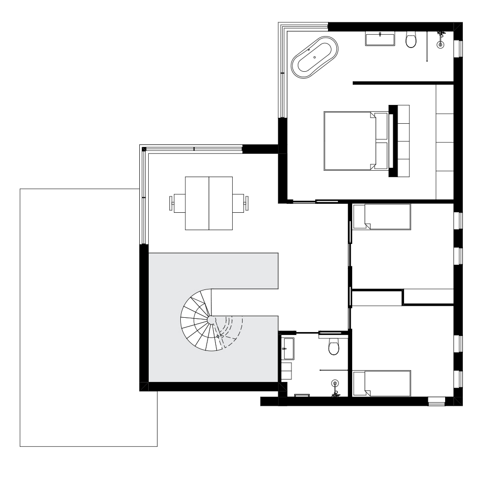nieuwbouw architect villa den haag beton plattegrond