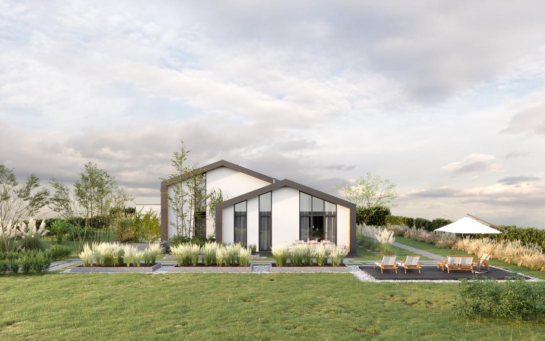 nieuwbouw architect Den Haag villa 3d beeld front