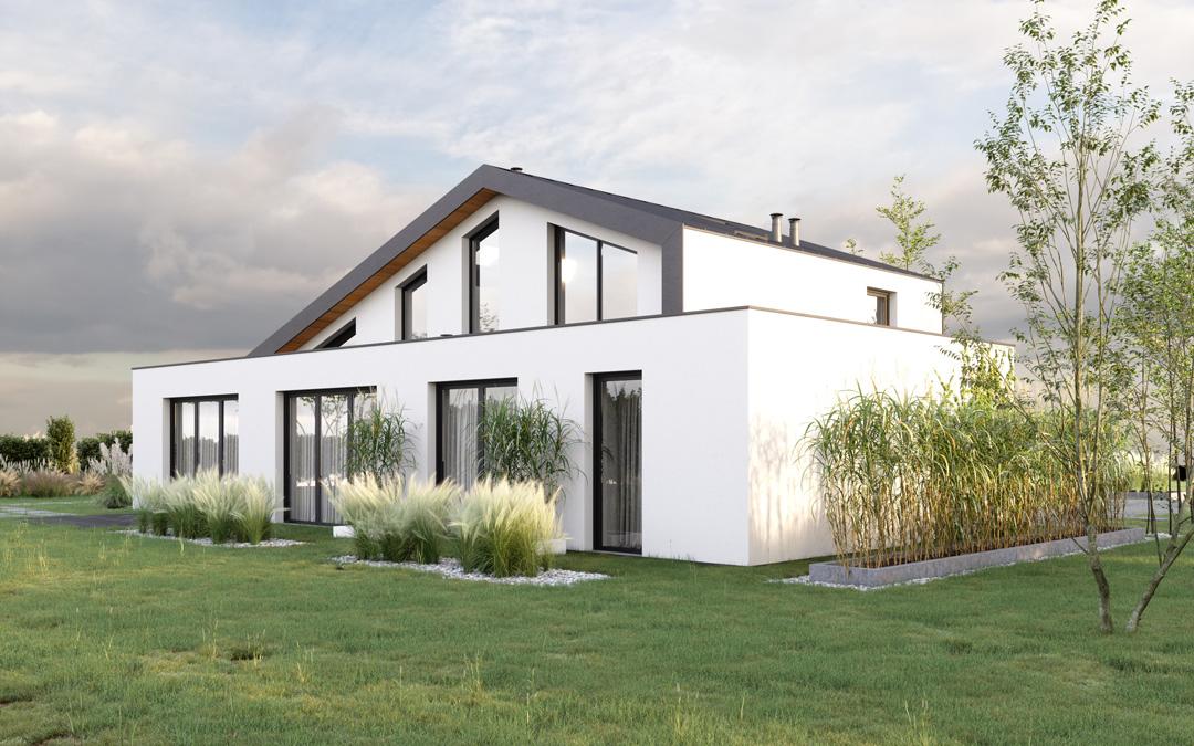 nieuwbouw architect Den Haag villa 3d beeld