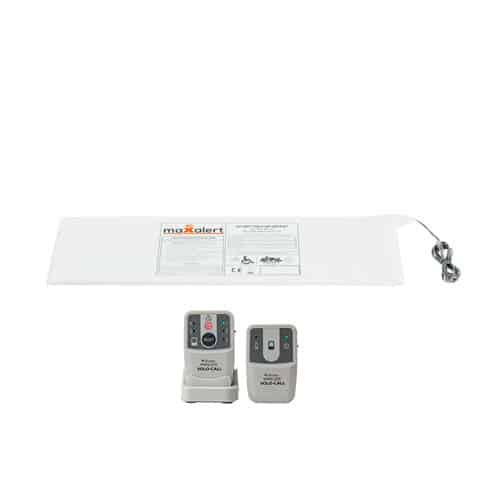 Bed Sensor Mat with Solo Call Pager and Transmitter Alarm Kit